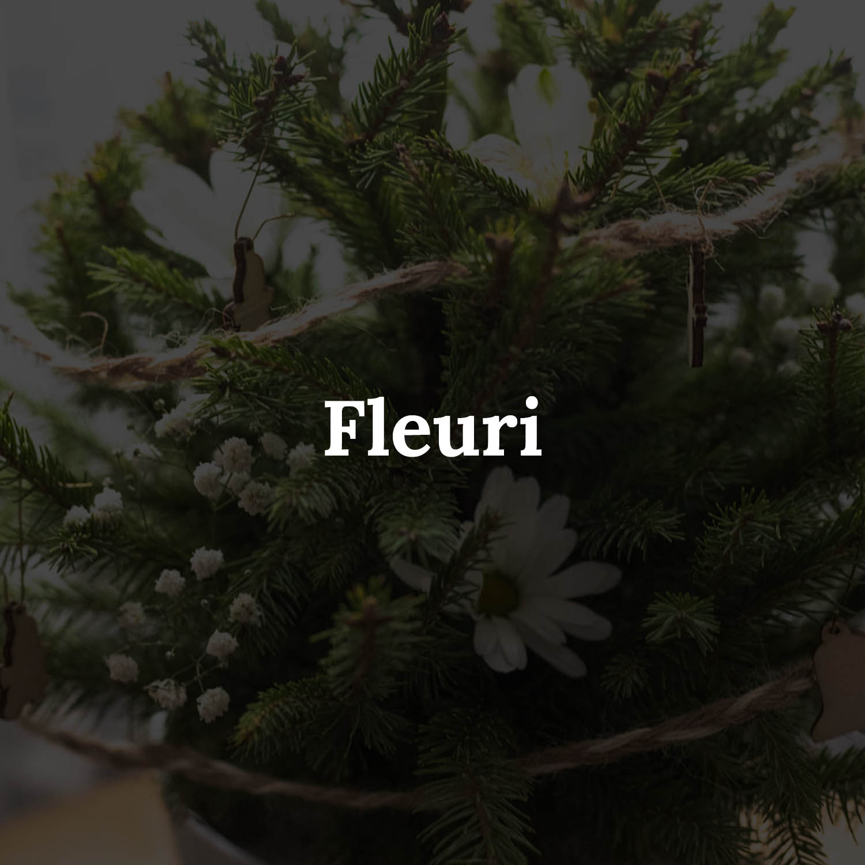 "Sapin naturel ""Fleuri"" - MyLittleSapin"