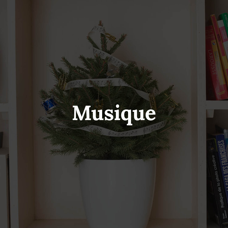 "Sapin naturel ""Musique"" - MyLittleSapin"